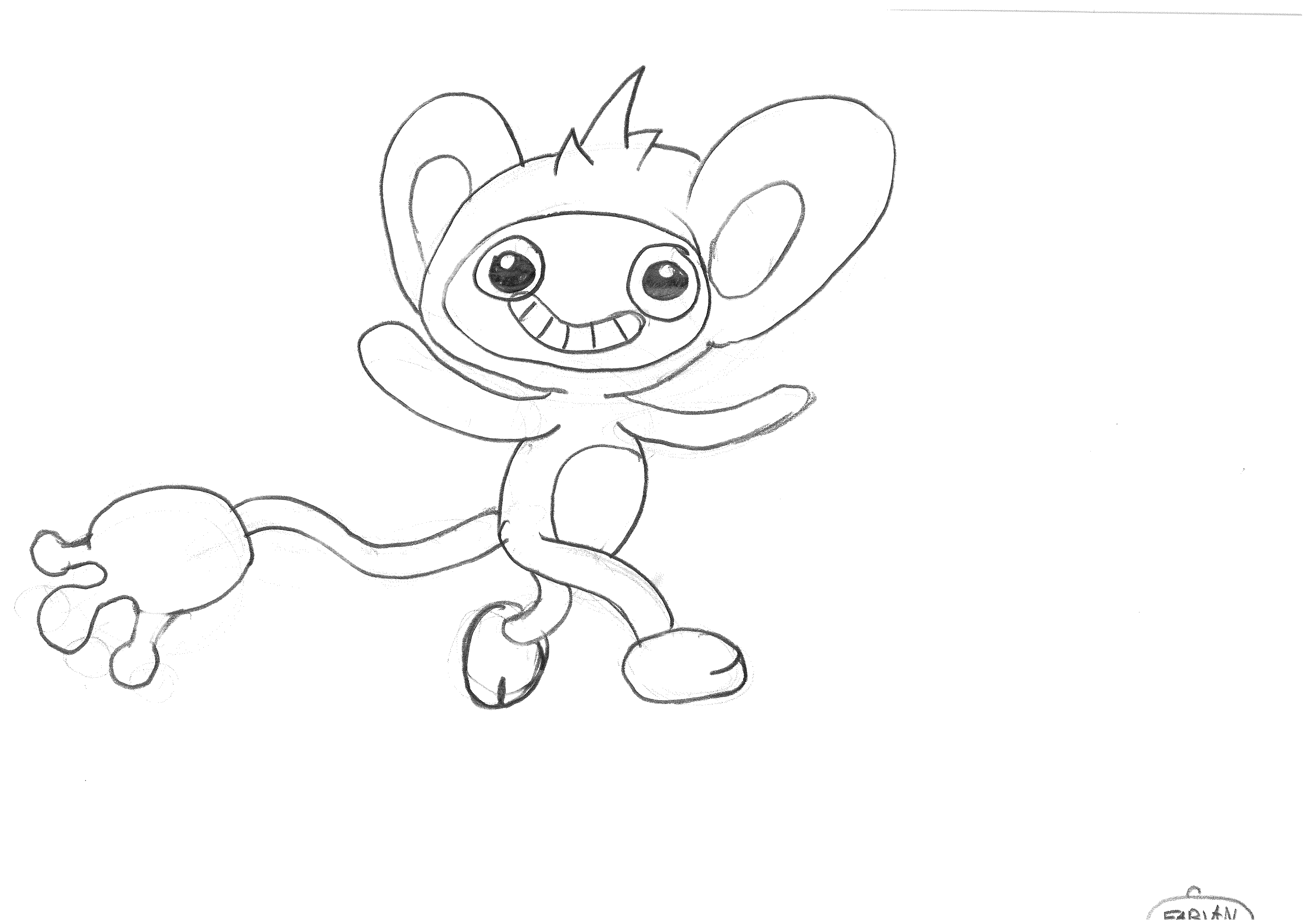Ambipom coloring page | Free Printable Coloring Pages | 3312x4677